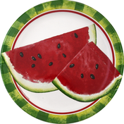 Party Creations Plates, Watermelon Slices, 6-7/8 Inch