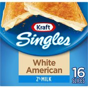 Kraft White American Cheese Slices with 2% Milk