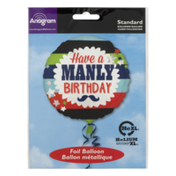 Anagram Standard Foil Balloon Have a Manly Birthday