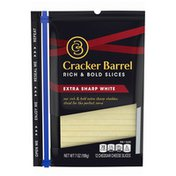 Cracker Barrel Extra Sharp White Cheddar Cheese Slices
