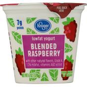Kroger Yogurt, Lowfat, Blended Raspberry