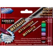 Sargent Art Markers, Metallic, Fine Point
