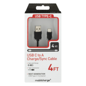 MobilEssentials USB C to A Charge/Sync Cable 4 FT