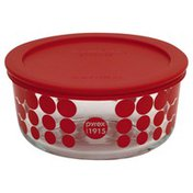 Pyrex Bowl with Lid, Glass, Red, Not Packed