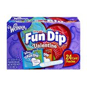 Fun Dip Wonka Lik-M-Aid Fun Dip Valentine Card & Candy Kit - 24 CT