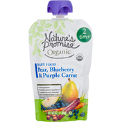 Nature's Promise Organic Pear, Blueberry & Carrot Baby Food