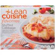 LEAN CUISINE Meat-filled cabbage roll with tomato sauce & whipped potatoes. Stuffed Cabbage