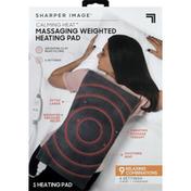 Sharper Image Heating Pad, Massaging Weighted