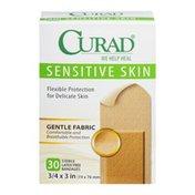 CURAD Sensitive Skin Bandages - 30 CT
