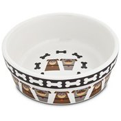 "Harmony Tough Guys Ceramic Dog Bowl 1.75"" H X 5"" Diameter"