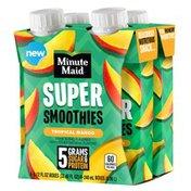 Minute Maid Super Smoothies Tropical Mango Cartons