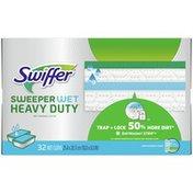 Swiffer Heavy Duty Wet Mopping Cloths Multi Surface Refills, Lavender