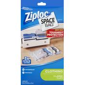 Ziploc Space Bag, Clothing, Large, Flat