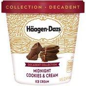 Haagen-Dazs Midnight Cookies and Cream Ice Cream – Rich and Creamy, Decadent Frozen Dessert