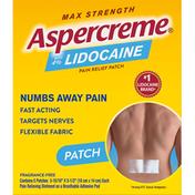 Aspercreme Lidocaine Patch, Max Strength