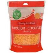 Food Club Finely Shredded Cheese, Medium Cheddar