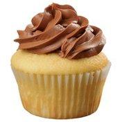 Kosher Yellow With Chocolate Icing Cupcake