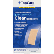 TopCare Bandages, Clear, Waterproof