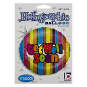 "Betallic 18"" Holographic Balloon Get Well Soon"
