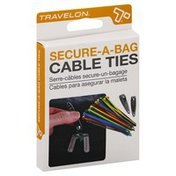 Travelon Cable Ties, Secure-A-Bag, Assorted