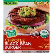 Don Lee Farms Burger, Organic, Black Bean, Chipotle