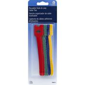 Helping Hand Cable Ties, Reusable Hook & Loop, 5 Inch