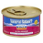 Natural Balance Cat Food, Ultra Premium, Chicken, Salmon & Duck Formula