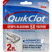 Quick Clot Clotting Gauze, Advanced, 2 Ft