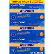 CareOne Asprin Orange Chewables 81mg Triple Pack