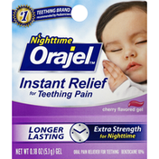 Orajel Oral Pain Reliever, for Teething, Gel, Cherry Flavored
