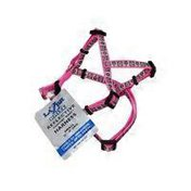 Coastal Pet Lazer Brite Reflective Nylon Harness In Pink With Daisies