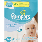 Pampers Wipes, Baby Fresh, Refills