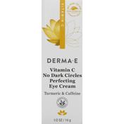 DERMA E Perfecting Eye Cream, Vitamin C, No Dark Circles