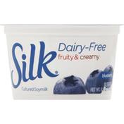 Silk Cultured Soymilk, Blended Blueberry