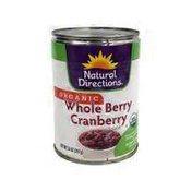 Natural Directions Whole Berry Cranberry Sauce