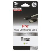 GE Micro USB Charge Cable, 3 Feet