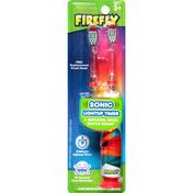 Firefly Sonic Toothbrush, Lightup Timer, Rainbow, Soft