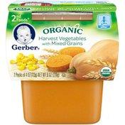 Gerber Organic 2 Nd Foods 2nd Foods Organic Harvest Vegetables with Mixed Grains Organic Purees Veg/Grain