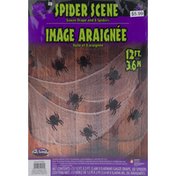Fun World Gauze Drape and 8 Spiders
