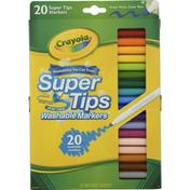 Crayola Washable Markers, Nontoxic, Super Tips