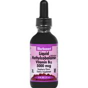 Bluebonnet Vitamin B12, 5000 mcg, Liquid, Raspberry Flavor