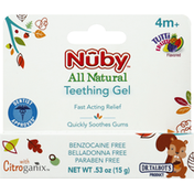 Nûby Teething Gel, Fast Acting, 4 Month +, Tutti Frutti Flavored