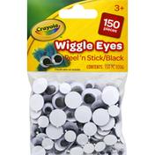 Crayola Wiggle Eyes, Peel 'n Stick, Black, 3+