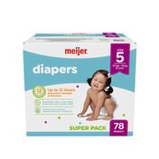 Meijer Premium Baby Diapers Size 5