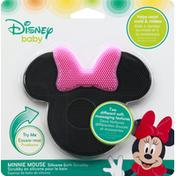 Disney Baby Bath Scrubby, Minnie Mouse, Silicone