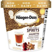 Haagen-Dazs Non-Dairy Spirits Amaretto Black Cherry Almond Toffee Frozen Dessert