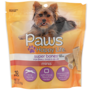 Paws Happy Life Minis Super Bones Dog Treats For Small Dogs 5-25 Lbs
