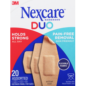 Nexcare Bandages, Duo, Assorted