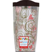 Tervis Tumbler, with Lid, Heart Vine Pink, 16 Ounce
