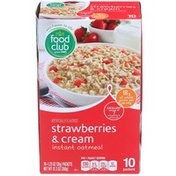 Food Club Strawberries & Cream Instant Oatmeal